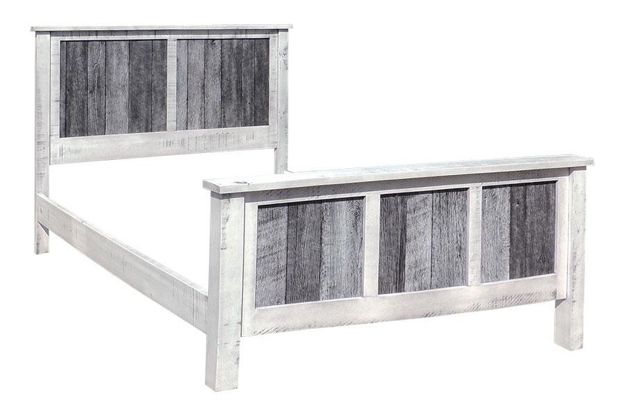 silver slate panel bed