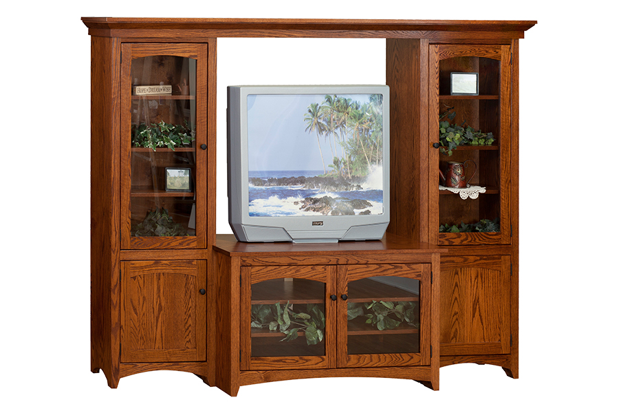 four piece bridge unit entertainment center