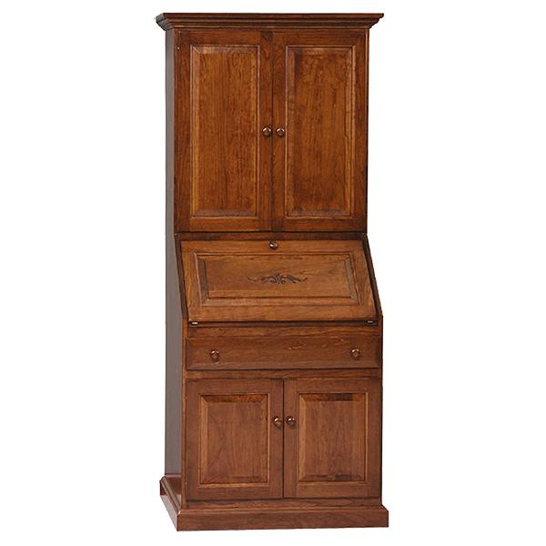 deluxe secretary desk with full raised panel doors