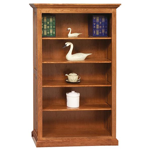 four shelf premium raised panel bookcase