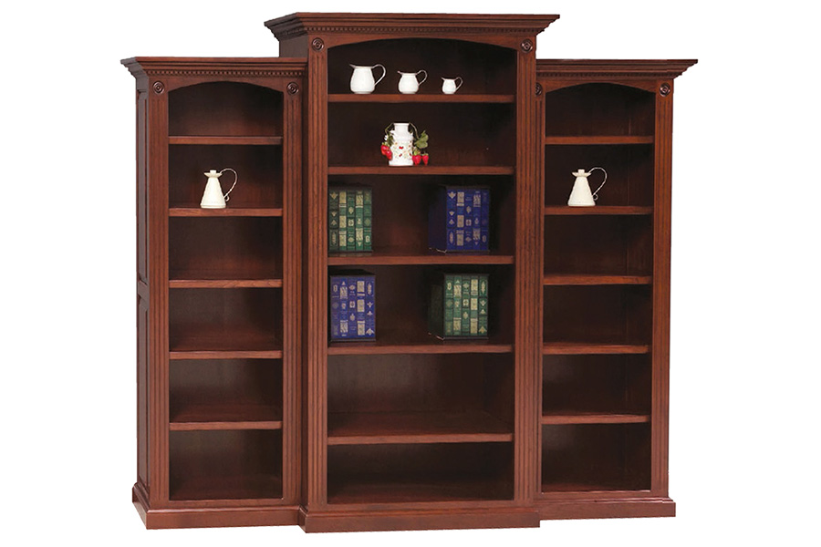 five shelf deluxe bookcase