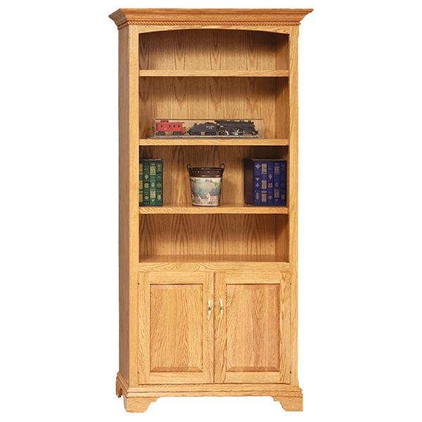 stockton bookcase with doors