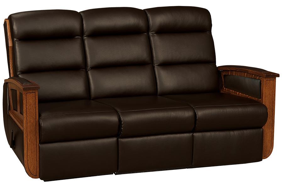 hampton wall hugger reclining sofa