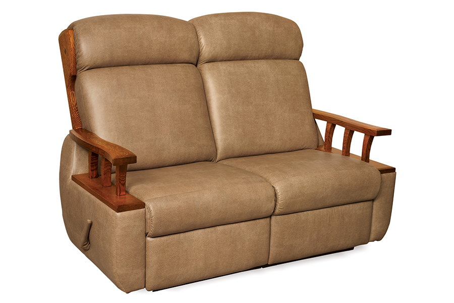 lincoln wall hugger reclining loveseat