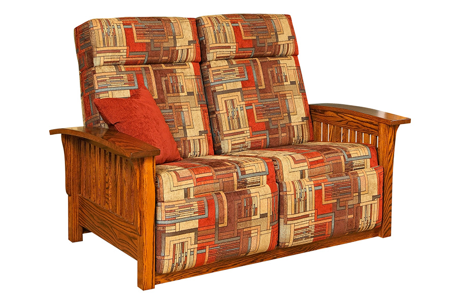 mission 85 wallhugger loveseat recliner