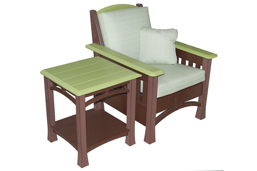 madison side table and madison chair