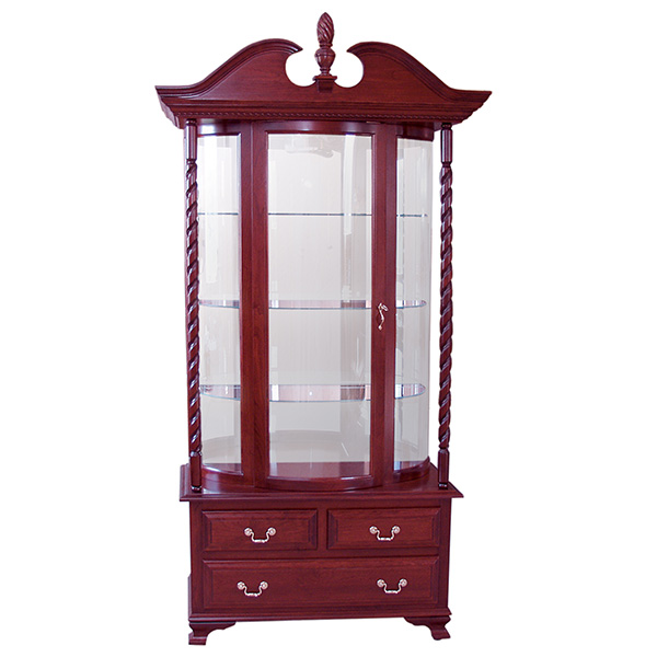 three drawer deluxe curio