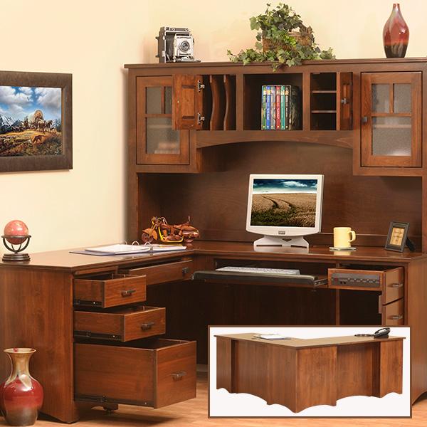 Etonnant Prairie Mission L Desk And Hutch