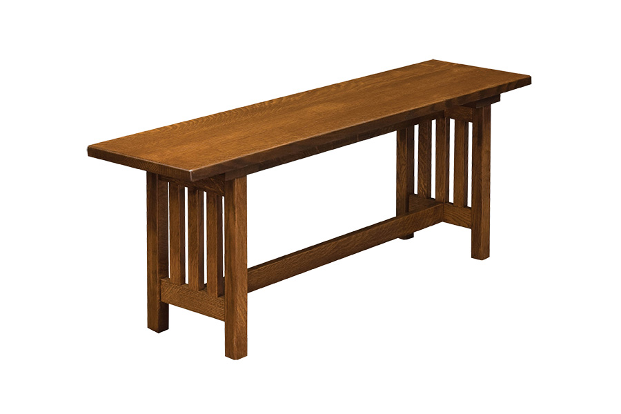 mission trestle dining bench