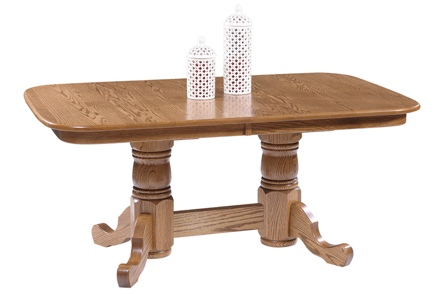 americana double pedestal dining table