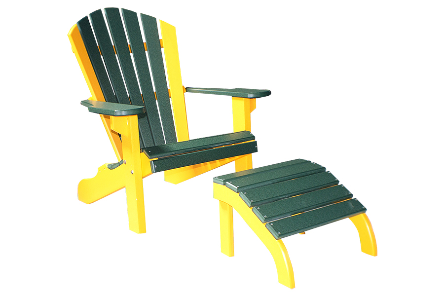 twenty two inch classic beach chair and eighteen inch classic ottoman