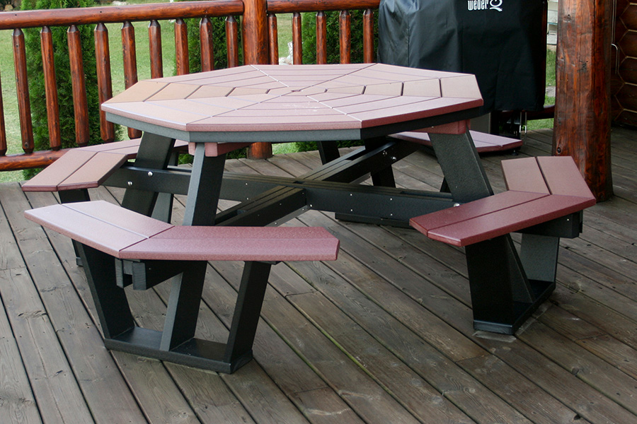 five foot octagon picnic table
