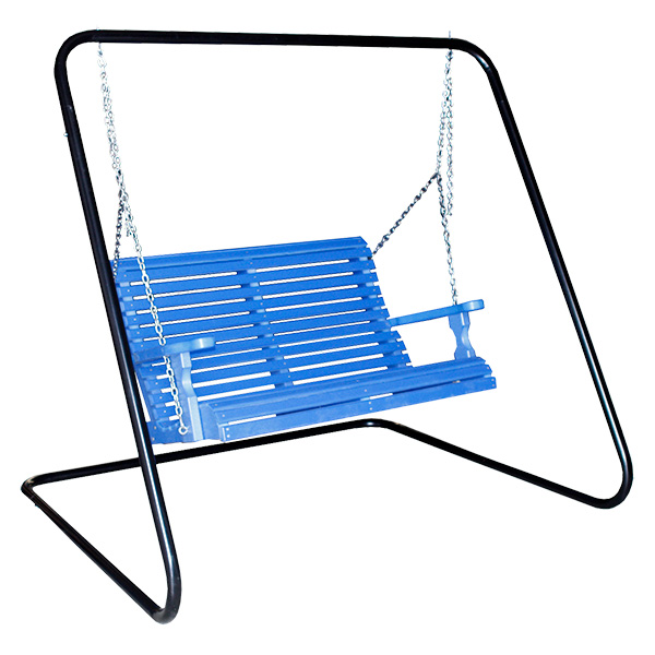 four foot rollback swing and powder coated metal swing frame