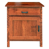 pioneer one door one drawer nightstand