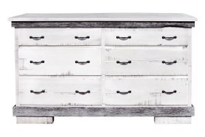 silver slate six drawer dresser