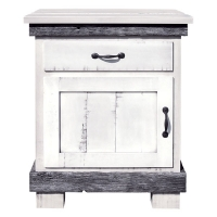 silver slate one drawer nightstand