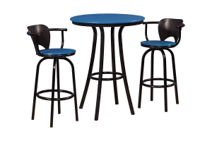 ashton bar height table and econo swivel counter and swivel bar chairs