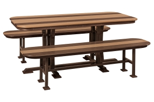 dining table and dining benches