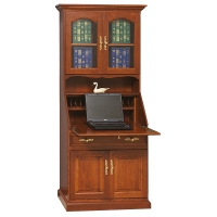 deluxe secretary desk with doors