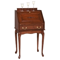 secretary desk with queen ann legs