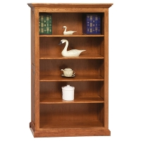 four shelf premium raised panel bookcase