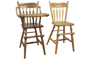 acorn high chair and acorn youth chair