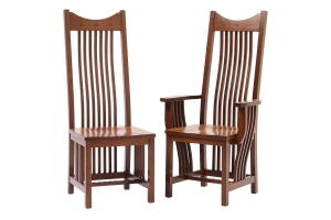 mission dining side chair and mission dining arm chair