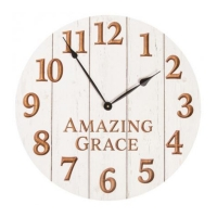amazing grace wooden clock