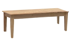 simply organic dining bench