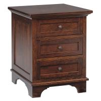 arlington three drawer nightstand