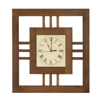 modern mission wall clock