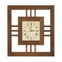 modern mission wall clock