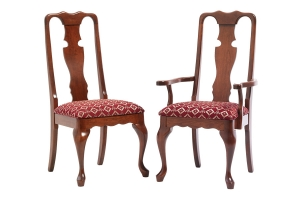 queen victoria dining side chair and queen victoria dining arm chair