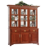 queen victoria three door hutch