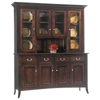 twenty three series shaker four door hutch and buffet