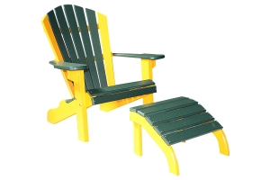 twenty two inch classic beach chair and eighteen inch classic ottoman