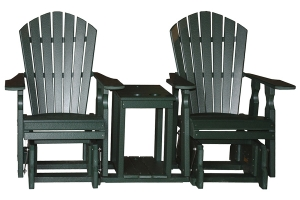 classical personal glider settee