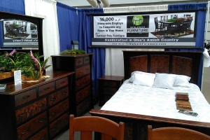 Featured bedroom set by Schlabach Furniture at Pittsburgh Home & Garden Show