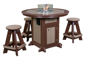 fire pit table with stools