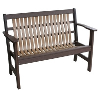 garden bench in cedar on brown