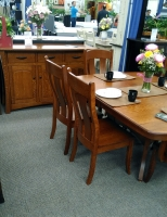 Quartersawn White Oak dining set with buffet from Schlabach Furniture