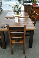 Rustic barn wood table from Schlabach Furniture